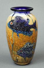 Small Blue Fish Vase