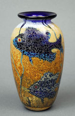 Small Blue Fish Vase