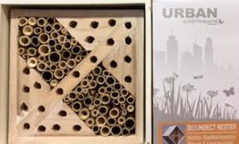 Help save the bees with this urban bee nester.
