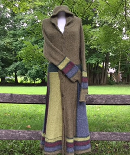 hand-knit sweater coats from Peru