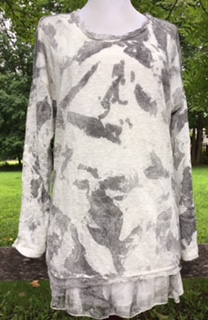 Cream and gray with a delicate lace pattern imprint, these are soft and cozy for fall.