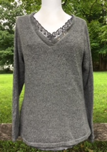 You'll be warm and cozy in this layered sweater!
