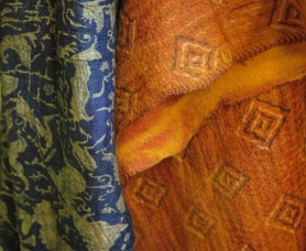 wool and silk felted scarves come in a variety of exquisite colors