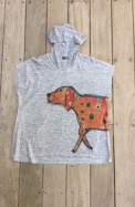 Show off your love for dogs in this cap-sleeve hoodie.
